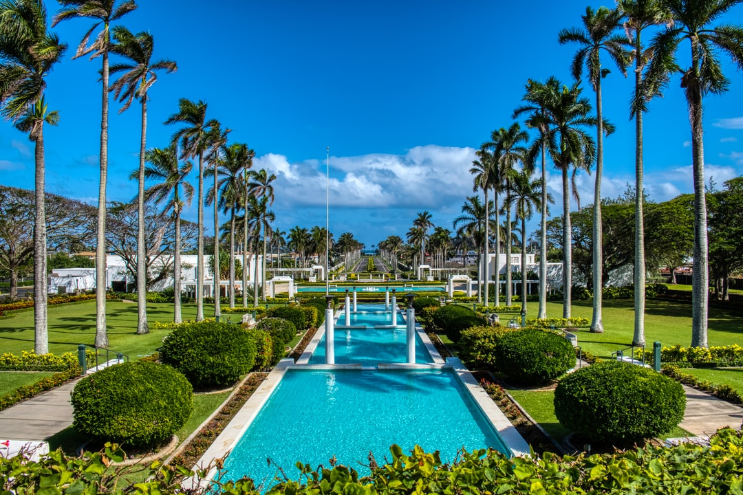 A view to the ocean, in Laie Hawaii.