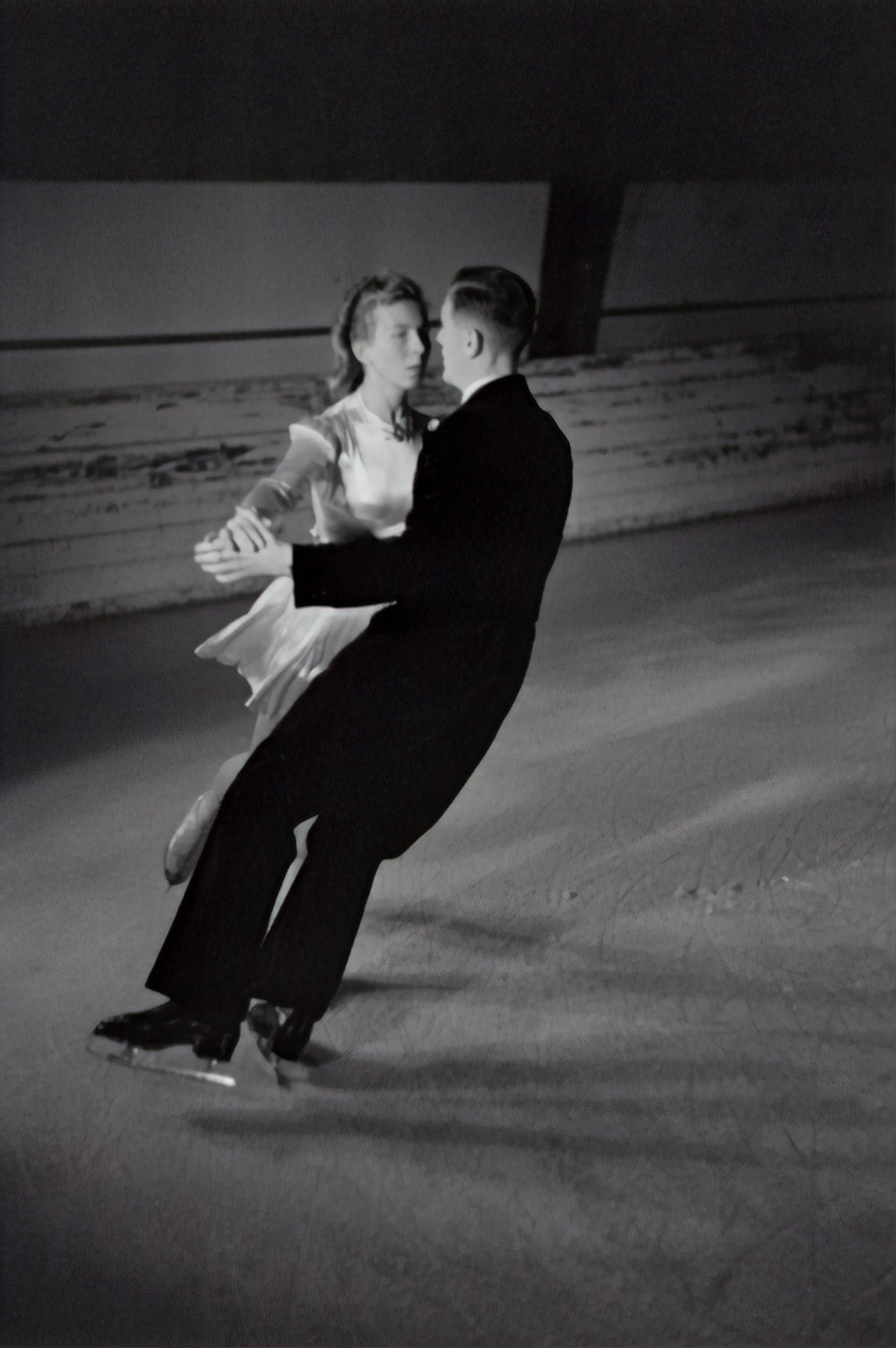couple dancing on the snow field
