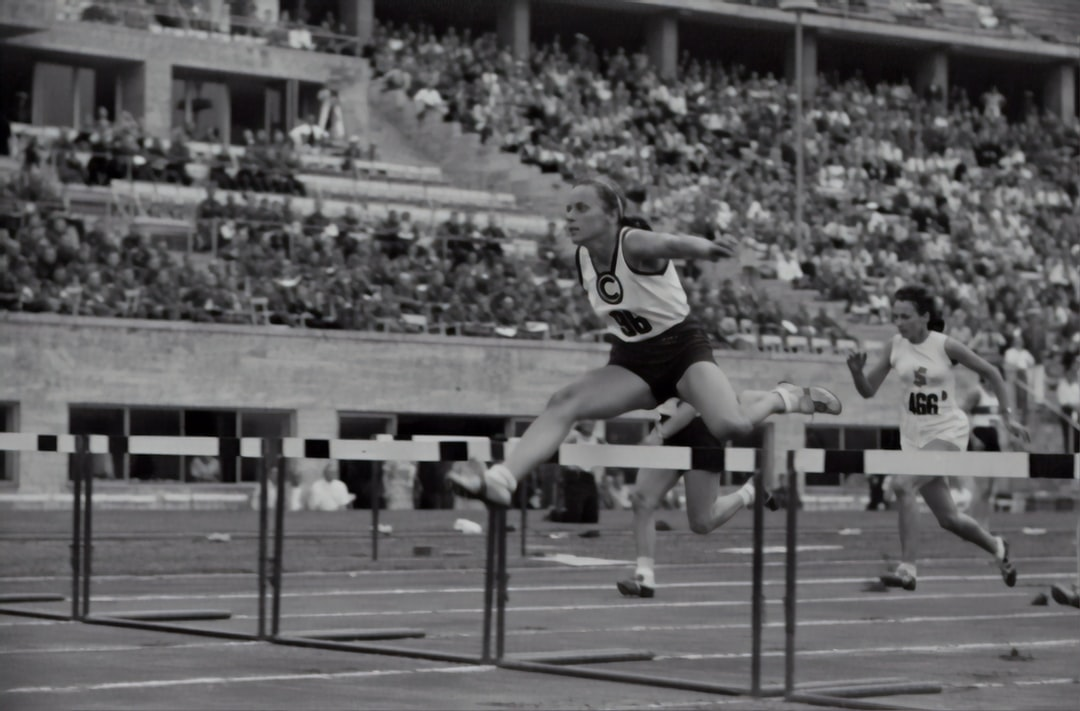 Women's hurdles.Athletics championships 1940