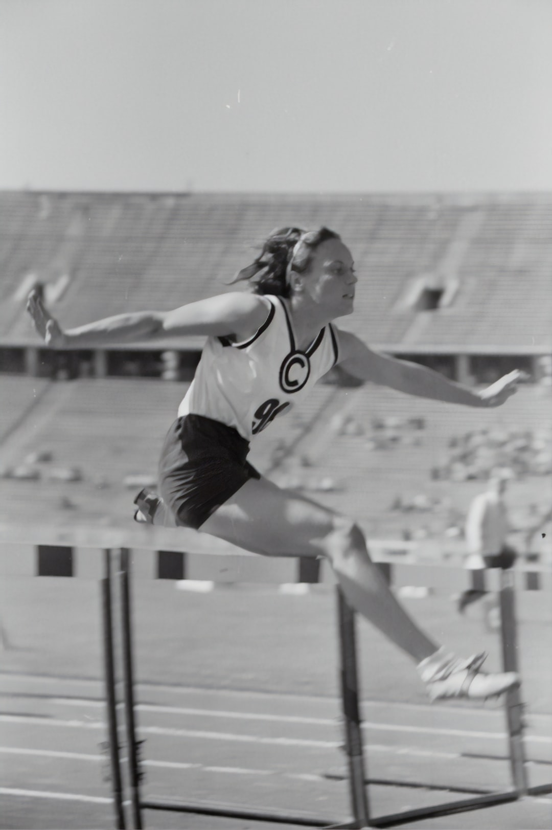 Women's hurdles. Athletics championships 1940
