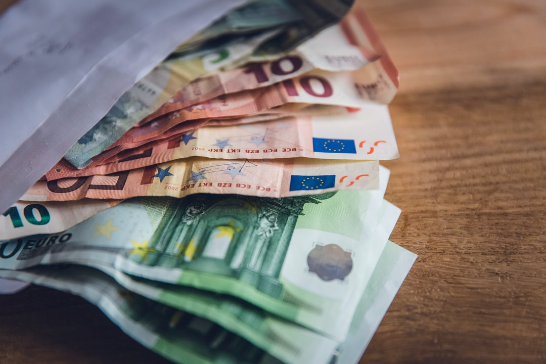 Corruption loves money. EURO banknote bank bill