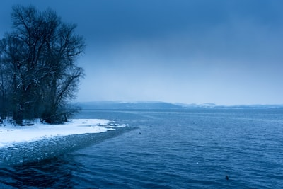 Cold winter at Chiemsee