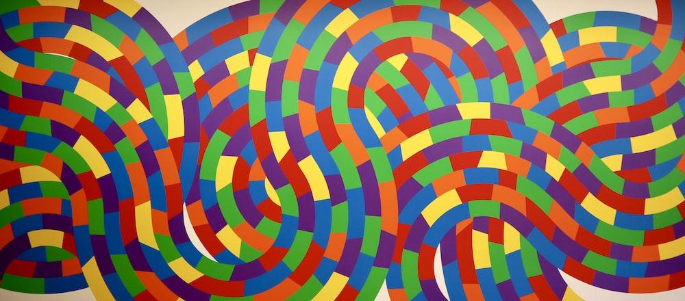 multicolored swirl abstract art