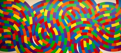 multicolored swirl abstract art