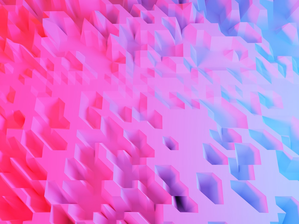 pink and blue abstract art
