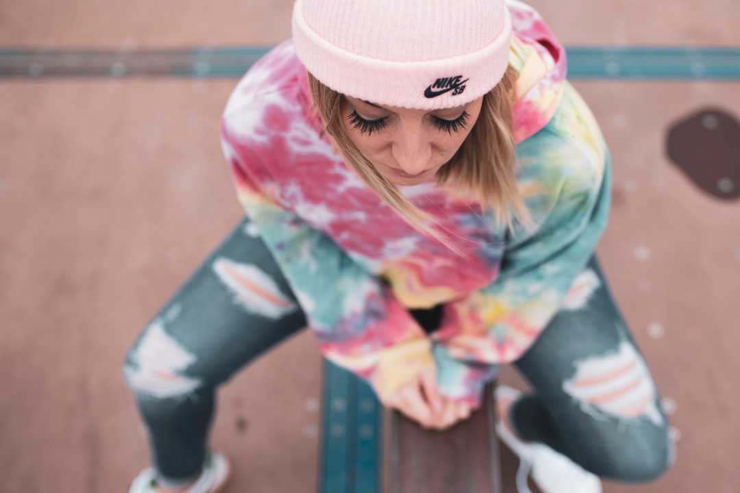 Skate Park, Top View.  Woman In Stocking Cap. - unsplash