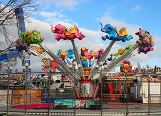 elephant amusement park ride