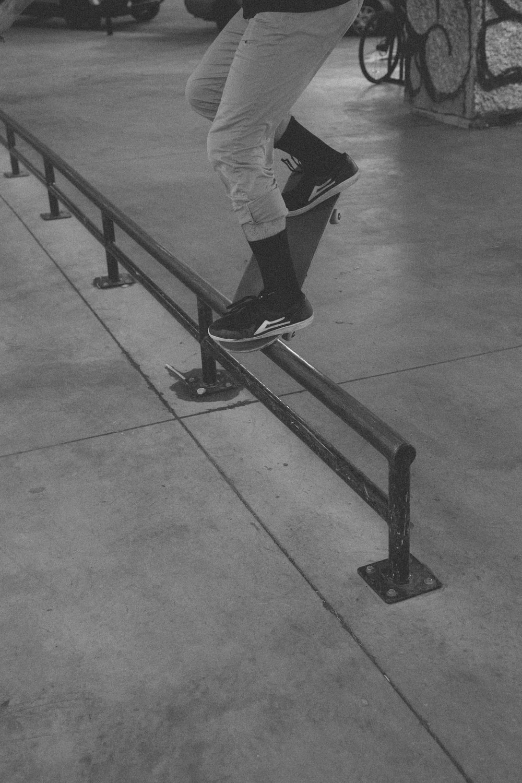 man riding on the skateboard photograph
