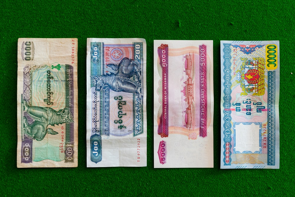 four banknotes