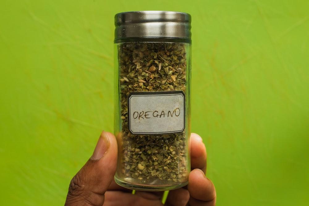 Oregano powder jar