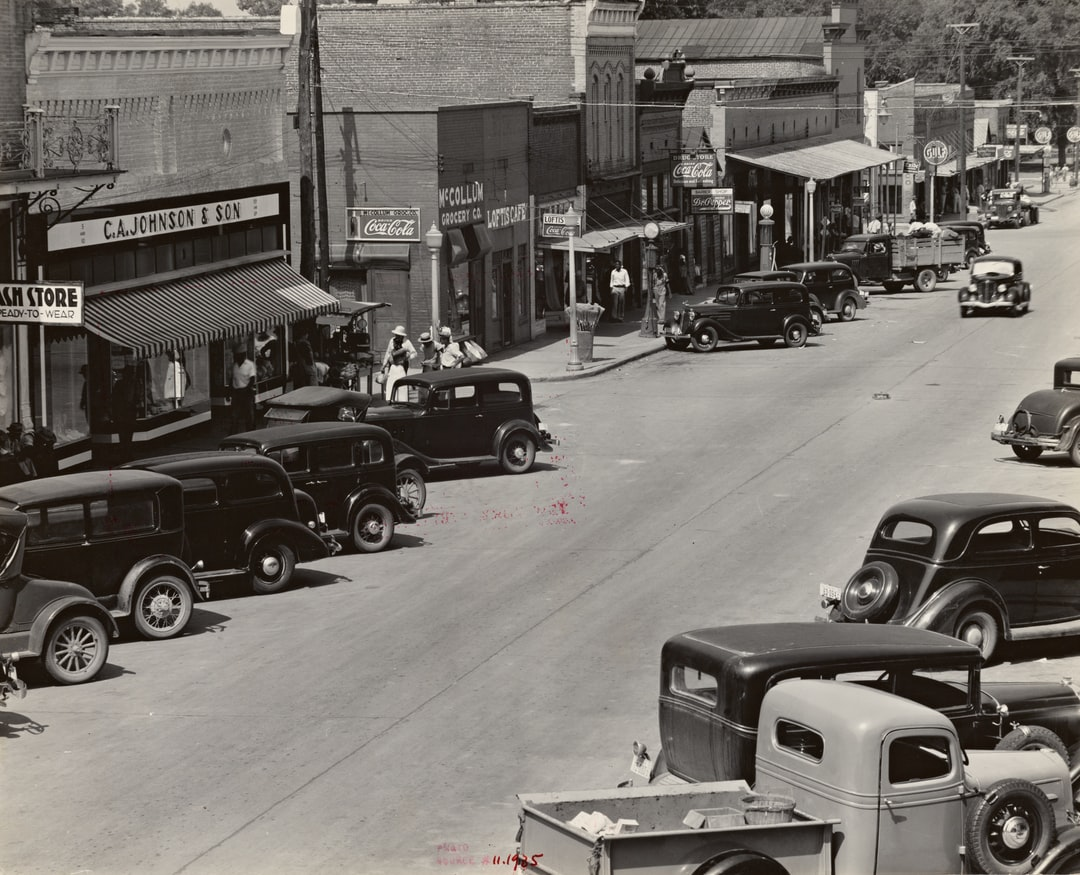County seat of Hale County, Alabama, 1935