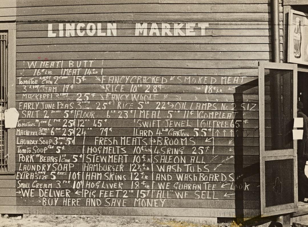 Market Sign. Winston Salem, North Carolina. 1935 - unsplash