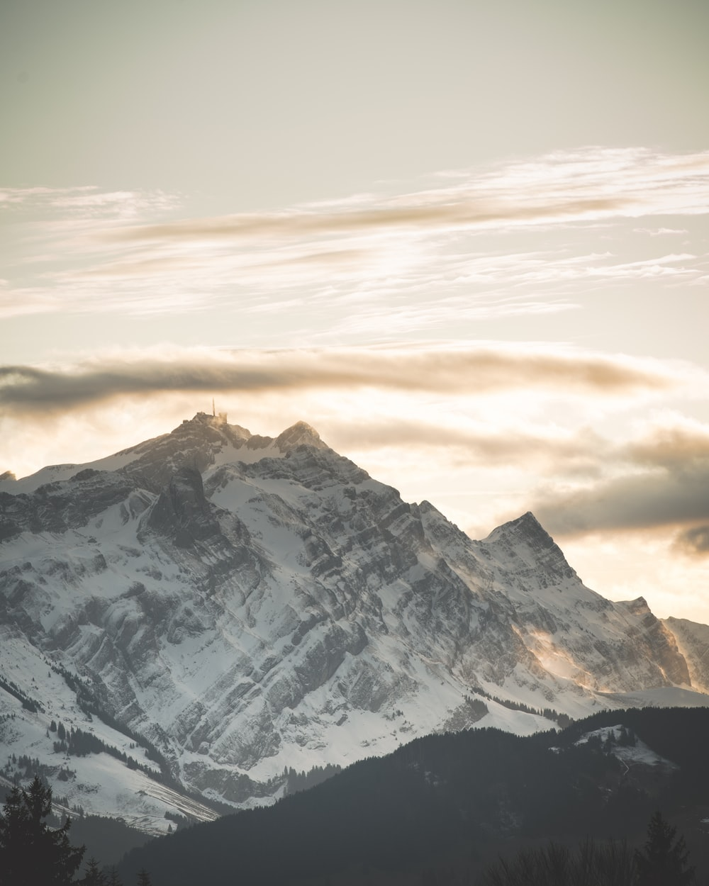 mountain during golden hour