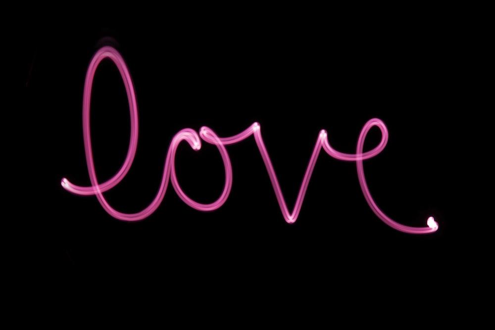 love text overlay