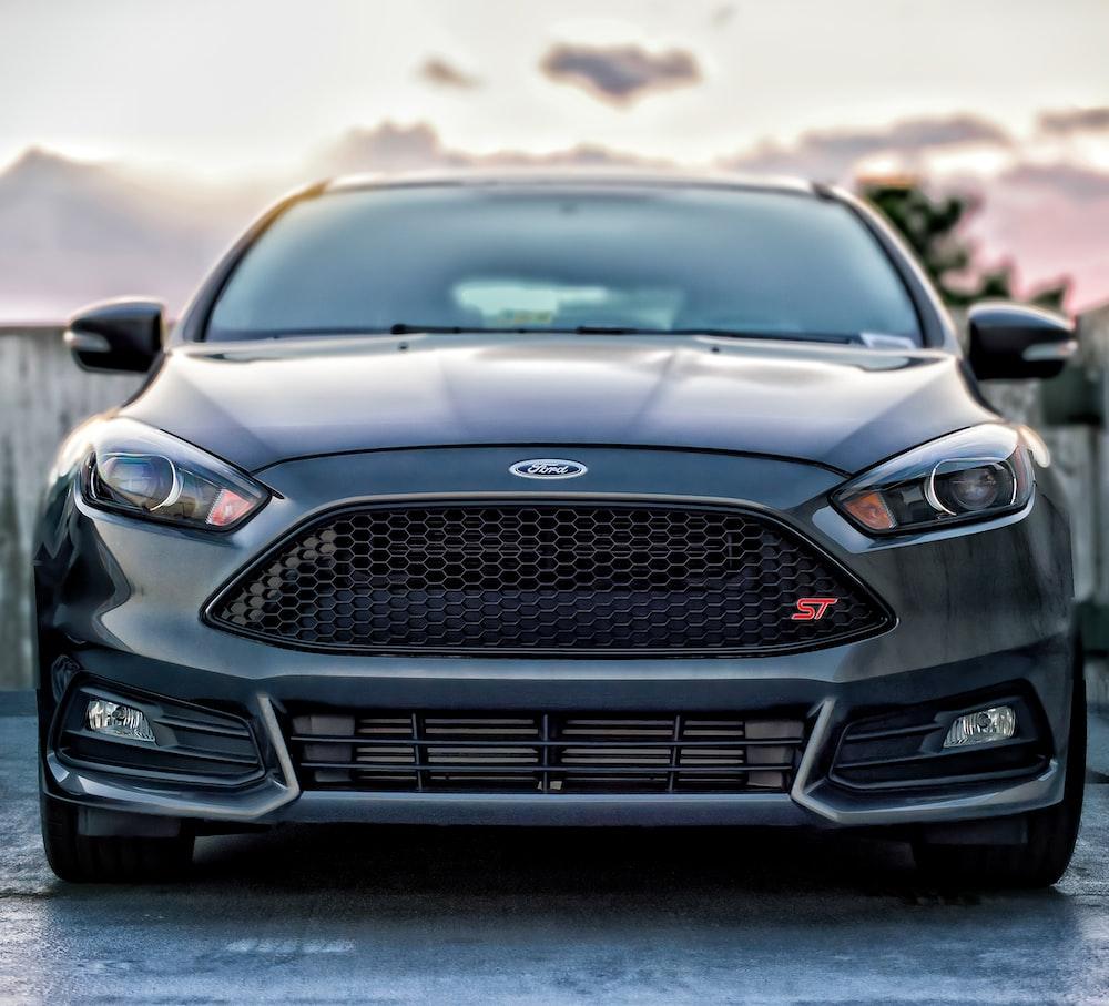black Ford car