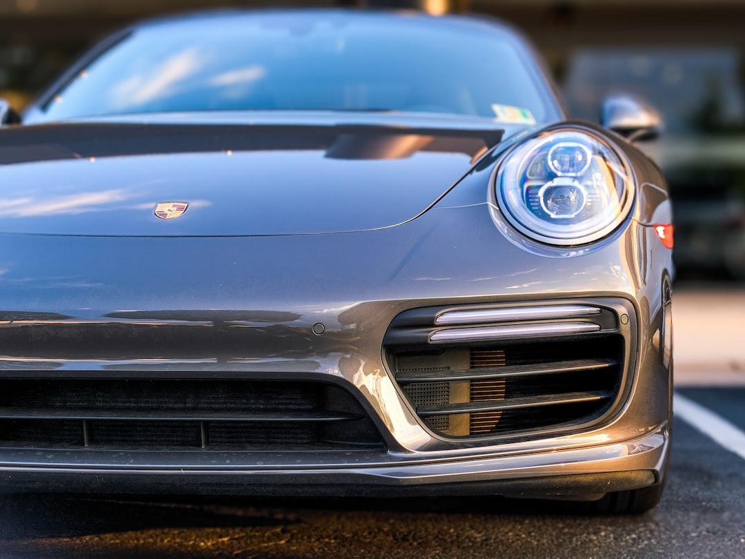 Porsche Cayman in Tyson's Corner Virginia at Sunset