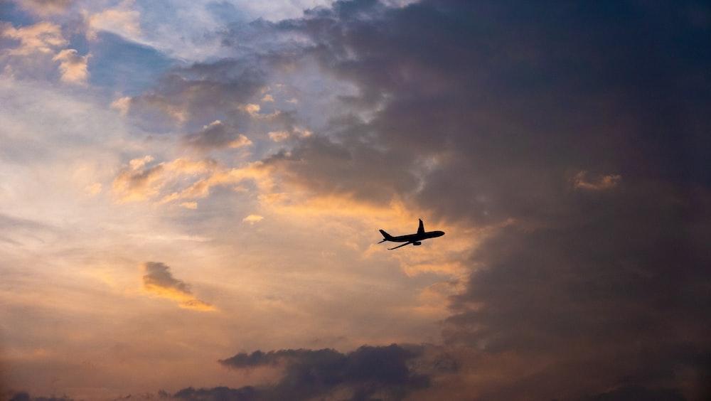 airliner at flight