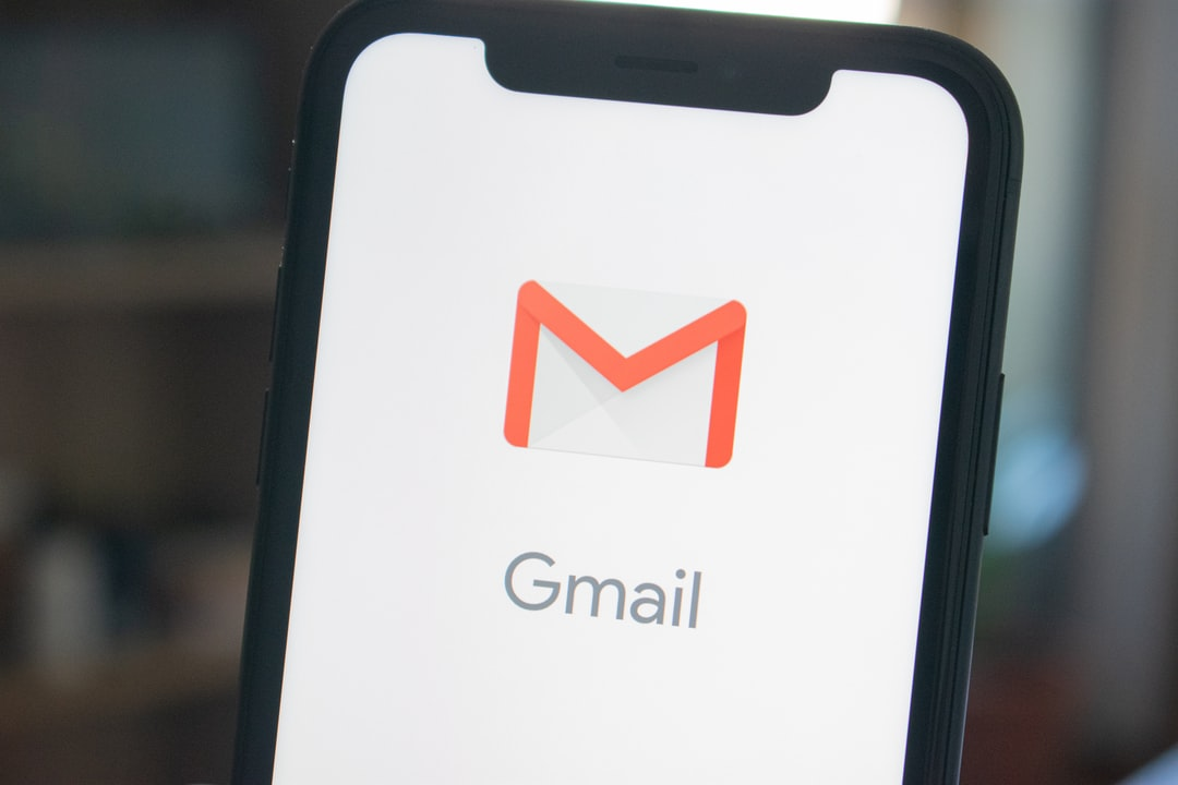 iPhone displaying the gmail app