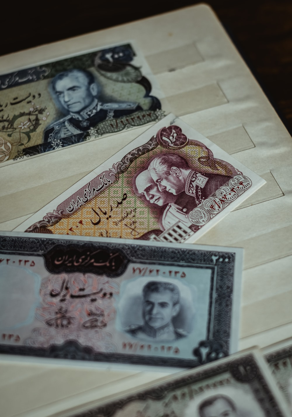 assorted denomination banknotes