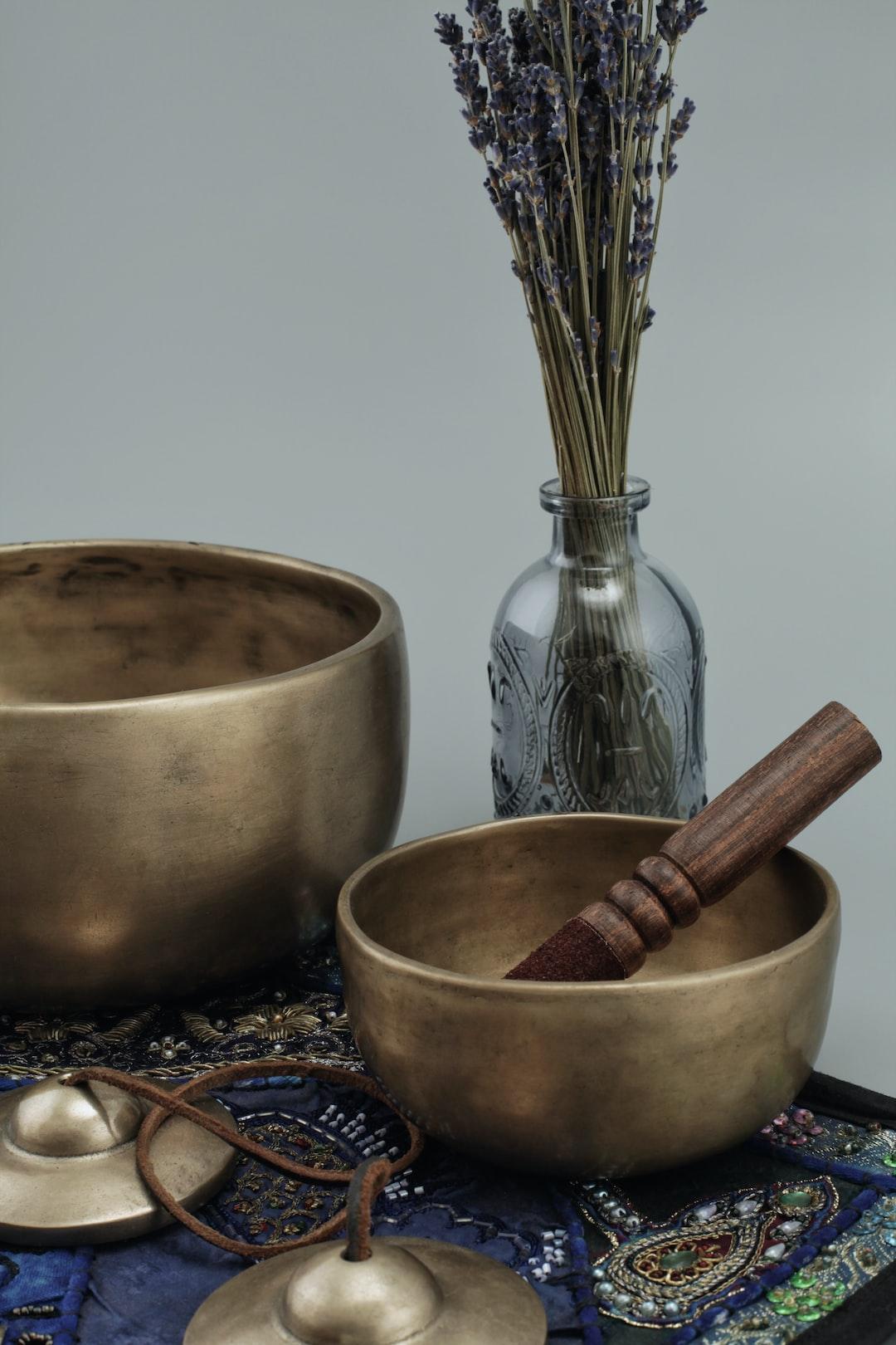 Tingsha cymbals & old singing bowls