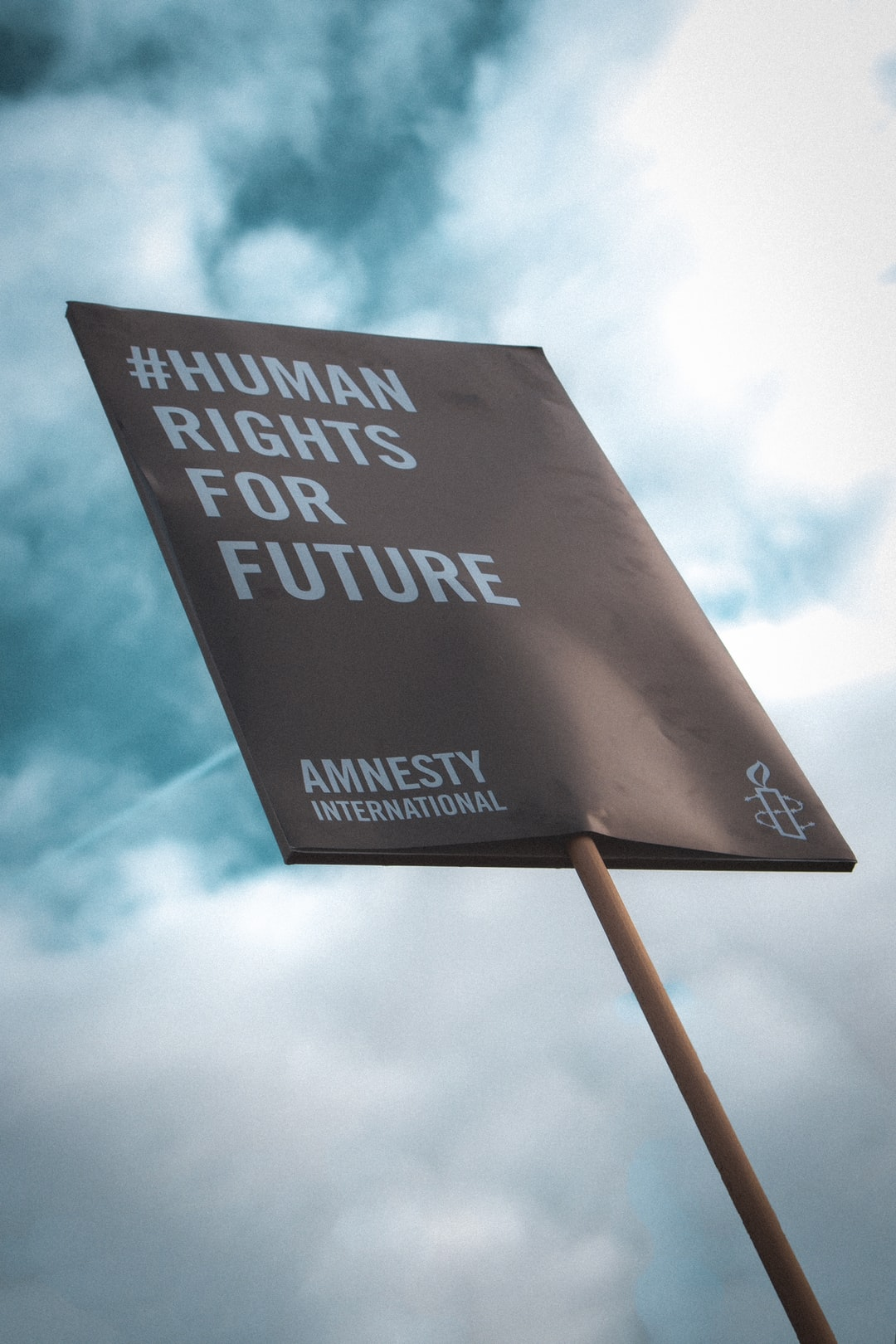 Human rights for future poster by Amnesty International at Fridays for Future