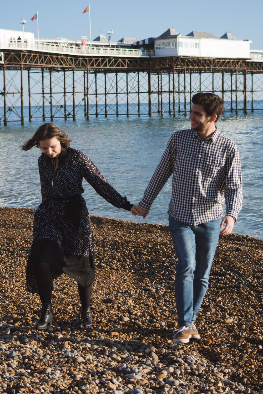 long paragraphs for her man and woman standing near beach line