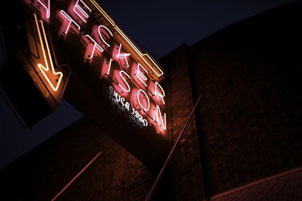 Becker Attison neon signage