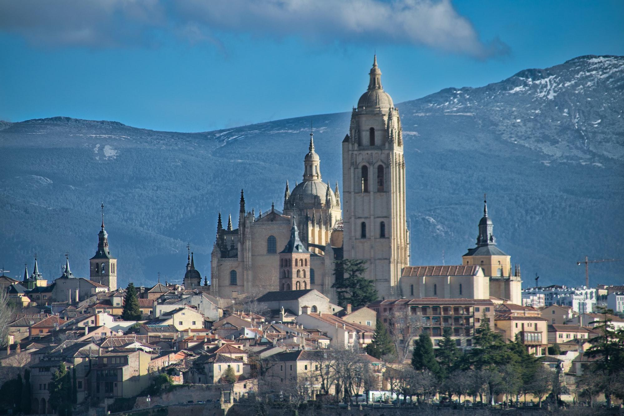 Segovia Catedral, viajes en tren