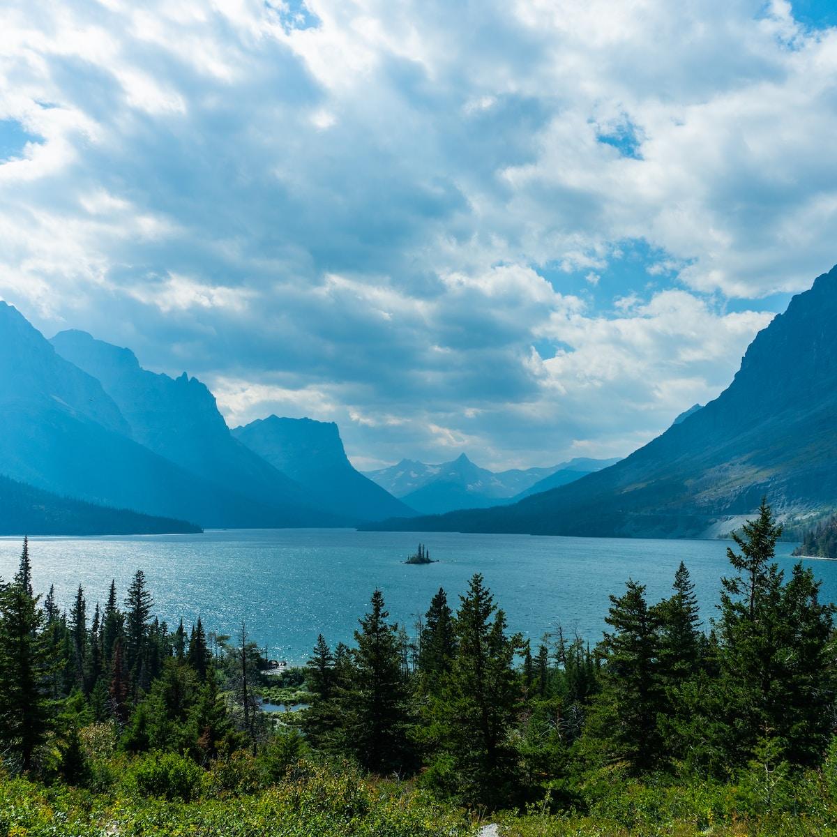 Lake Josephine in Glacier National Park, East Glacier