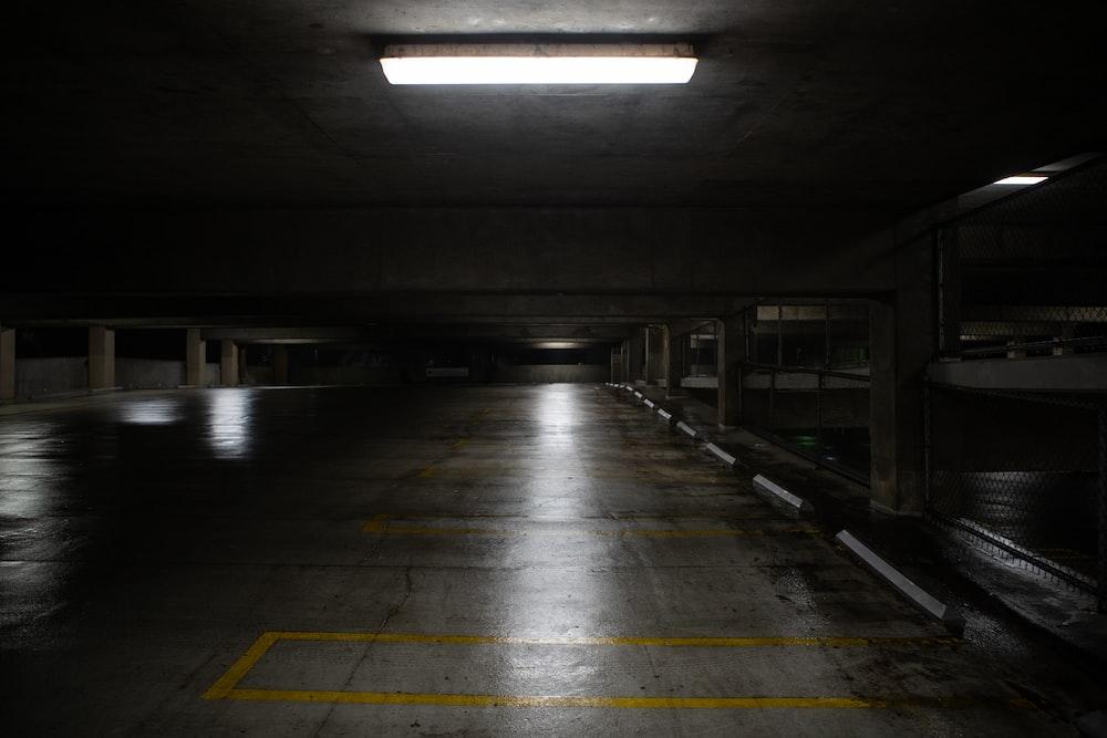 yellow and gray concrete floor