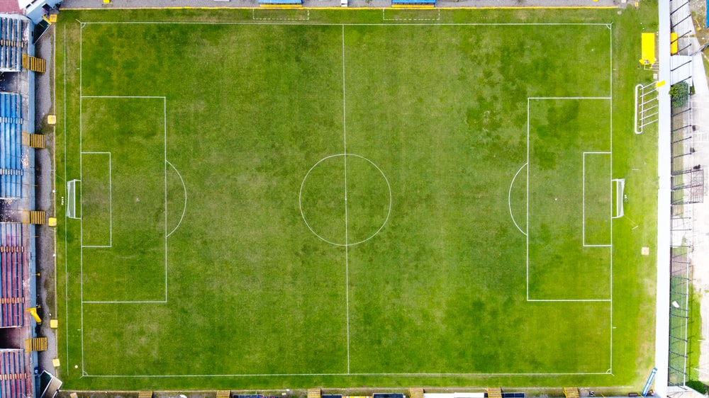 green and yellow soccer field