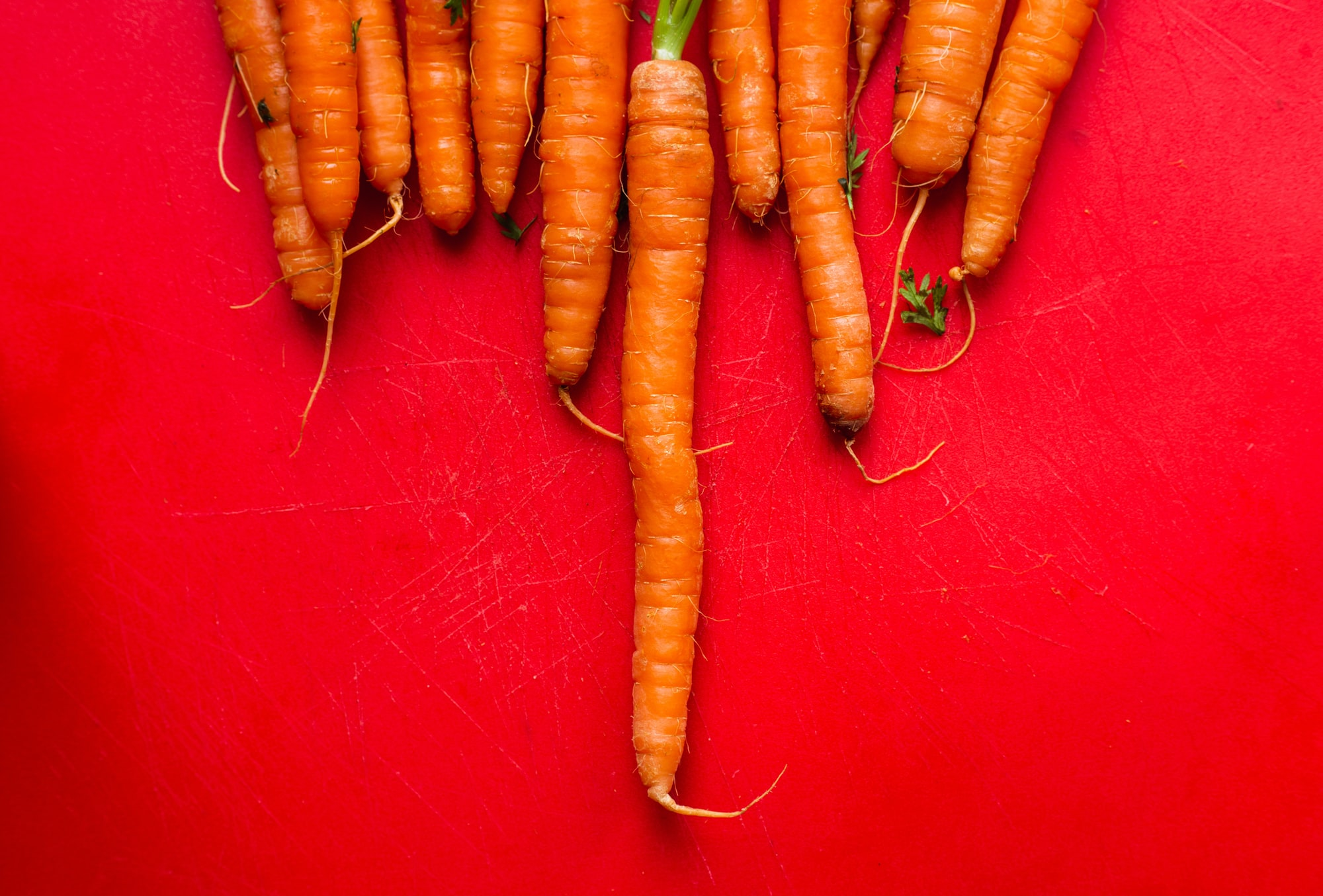 Carrots are an orange rainbow food by Louis Hansel for Unsplash