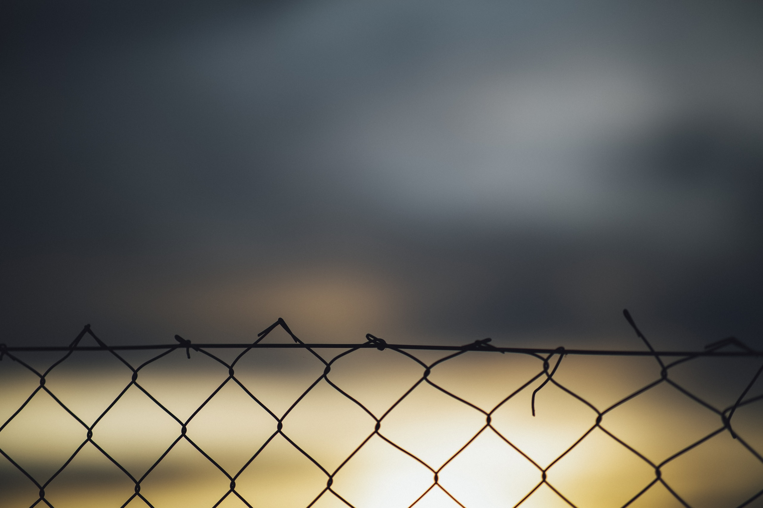 Fence at sundown