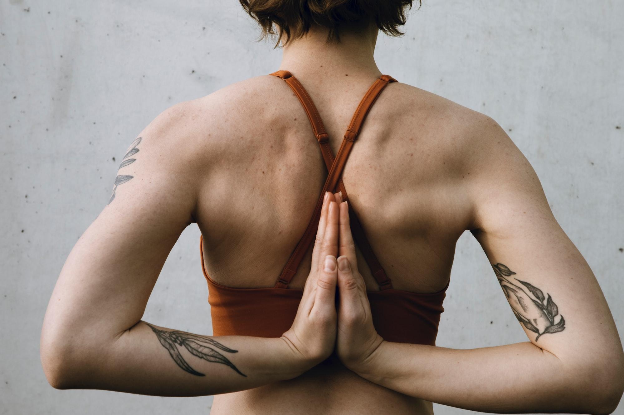 Yoga Reverse Prayer Pose