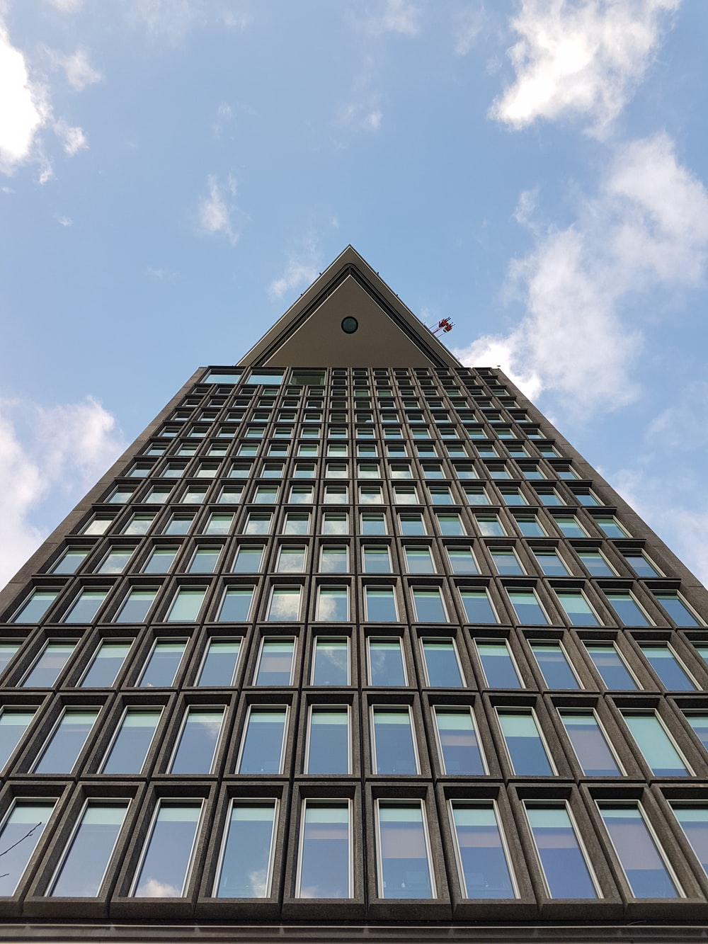 low angle photography of high rise building