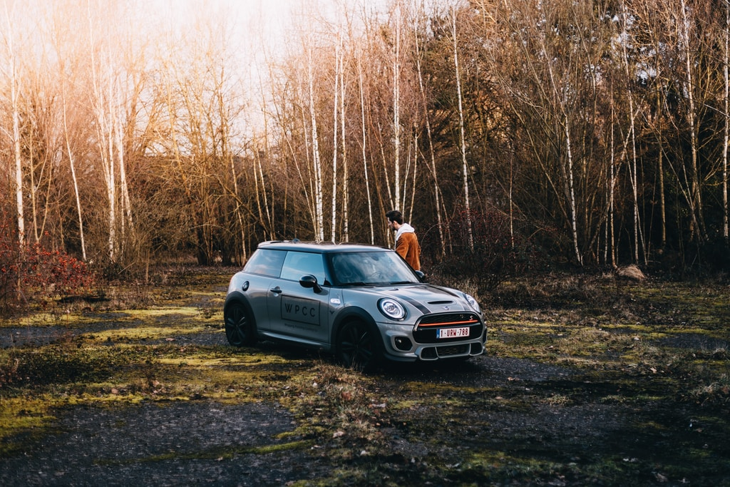 Shooting a few photos of my brother's Mini Cooper Sport on an abandoned airport in Belgium.