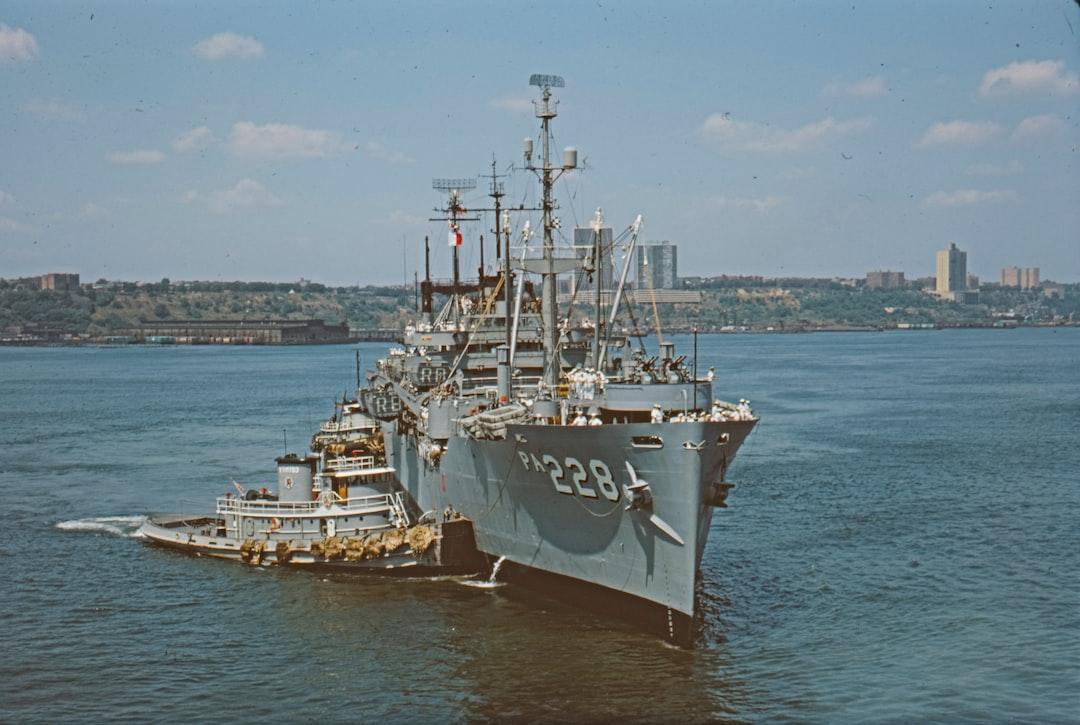 Naval Vessel, New York Harbour, August 1966
