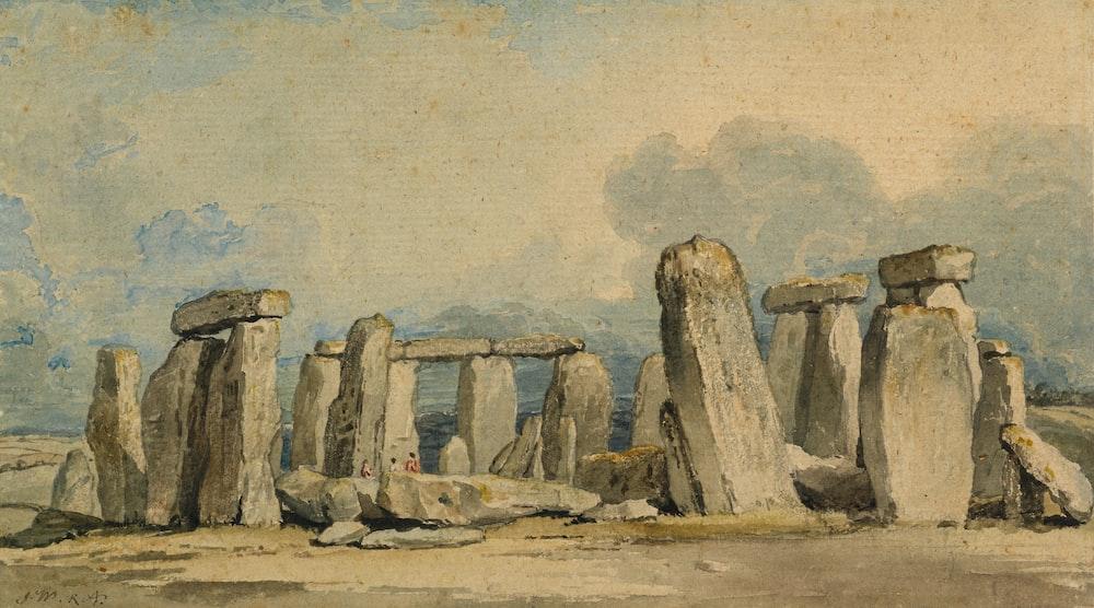 Painting of Stonehenge