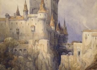 Alcazar, Segovia, Spain, 1836  By David Roberts