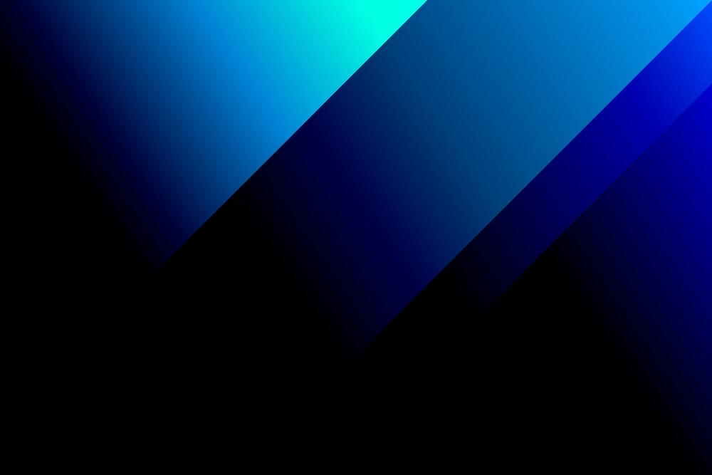 blue and black digital wallpaper