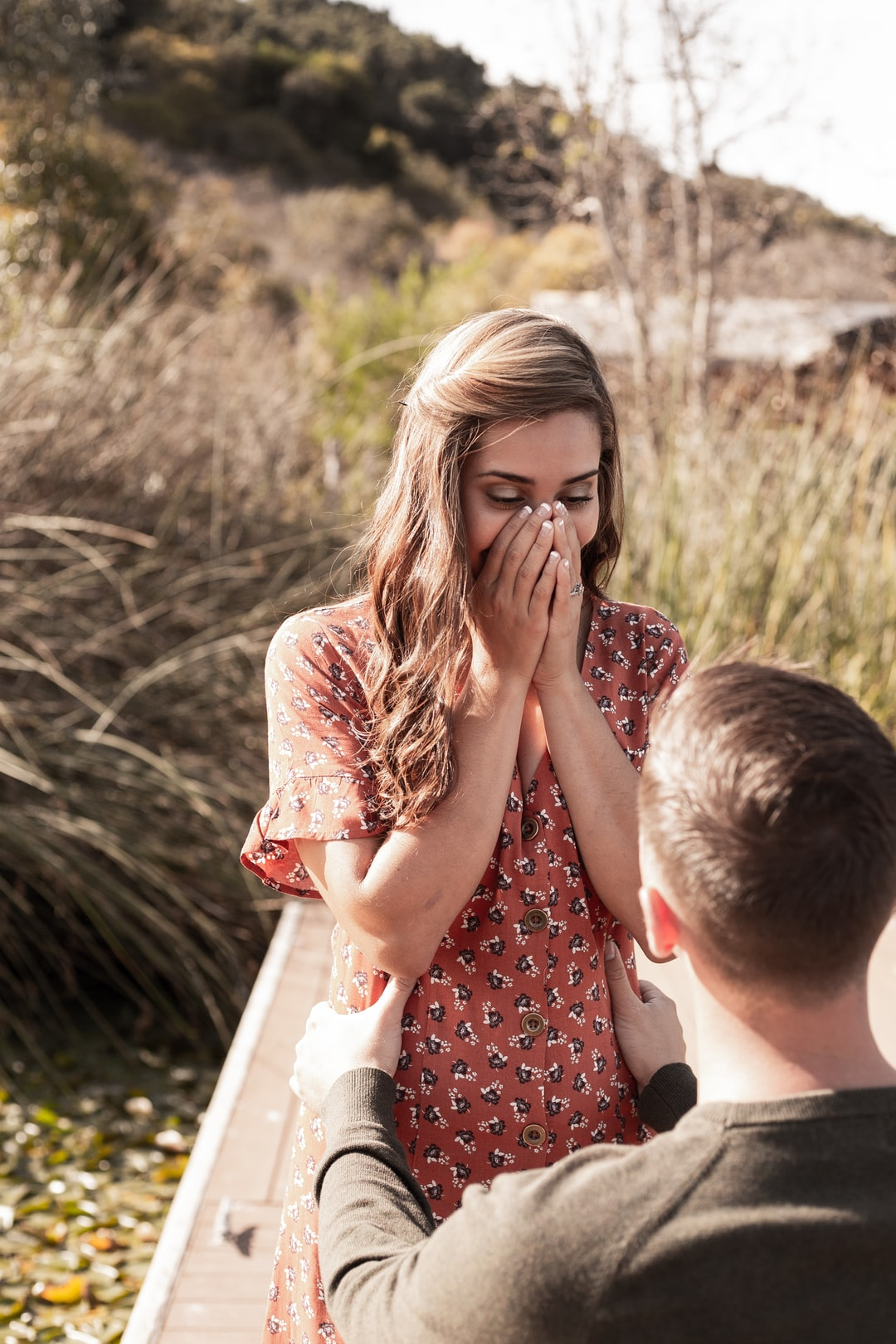 Woman's reaction to a proposal on the lake in San Marcos, CA. These two friends of mine are both in the military, and are some of the most photogenic people I have ever met!