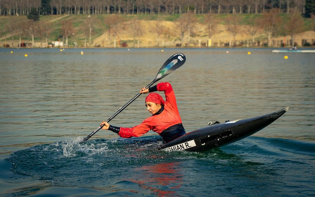 Canoe Slalom athlete in practice.