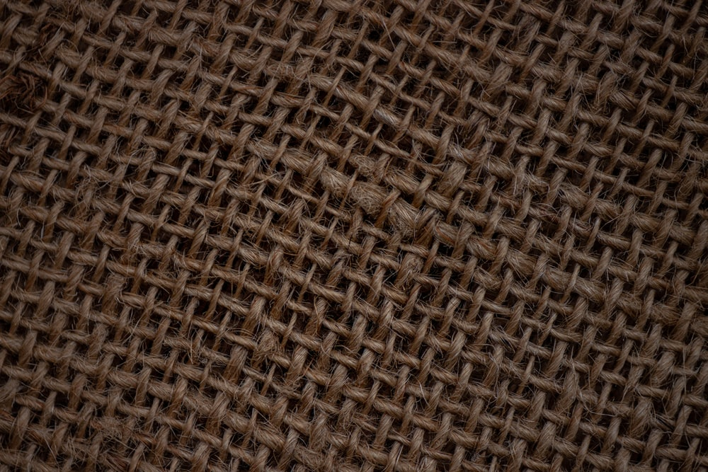 brown and black woven textile