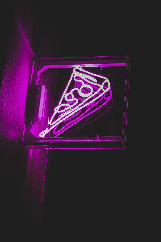 purple and black neon light