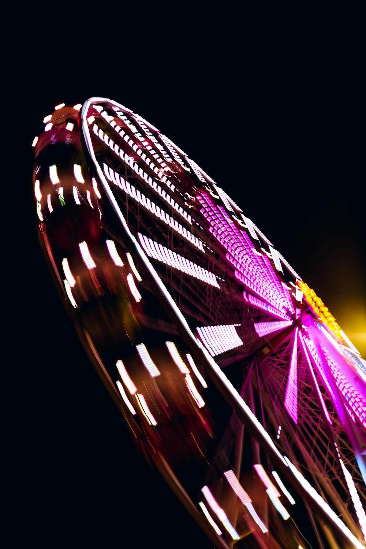 purple and black ferris wheel