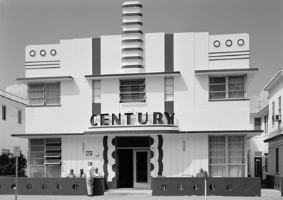 century hotel, miami, florida art deco teams background