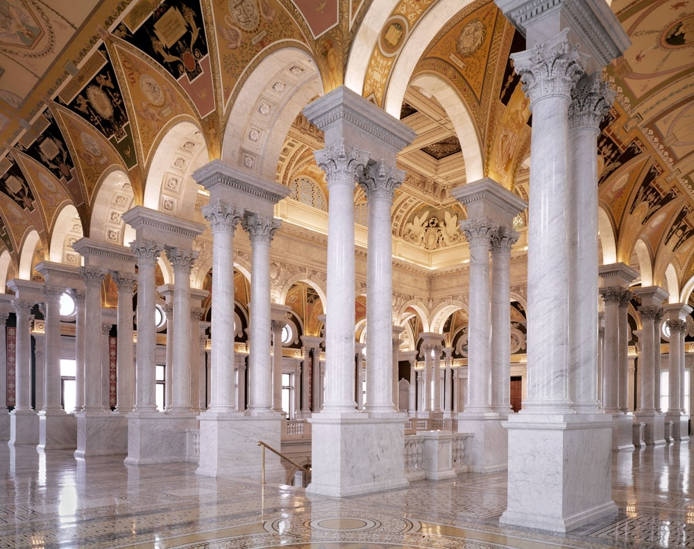Great Hall at the Library of Congress's Thomas Jefferson Building, Washington, D.C