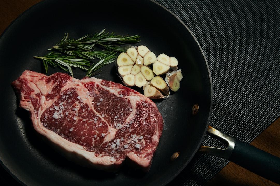beef, garlic, rosemary