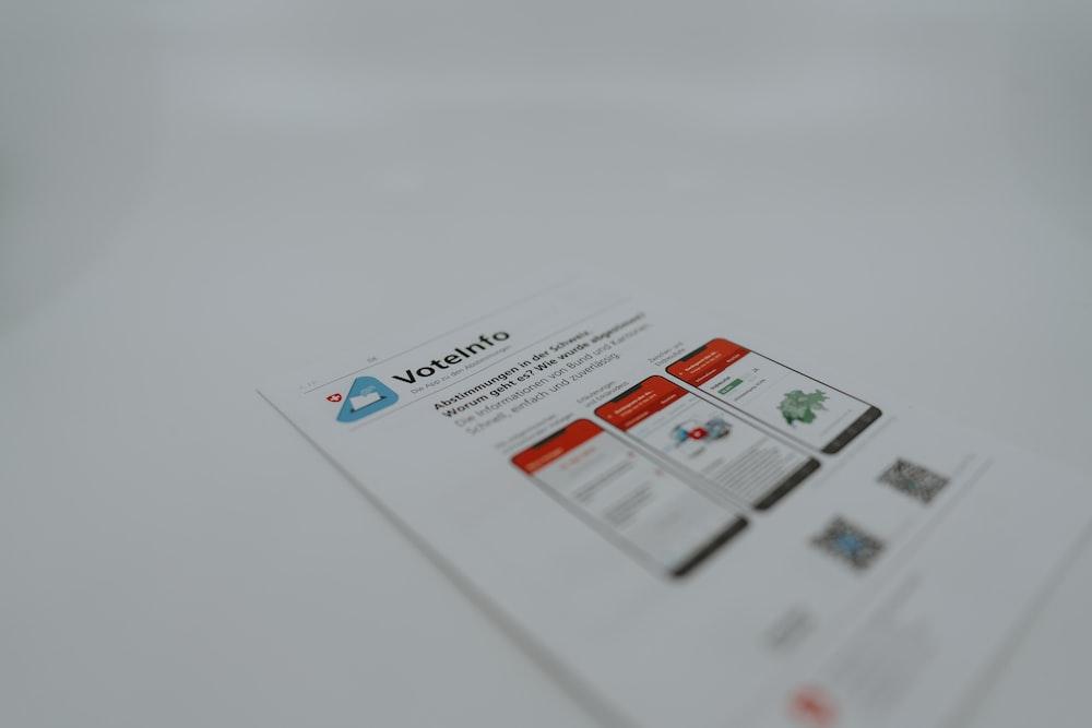 white and orange printer paper