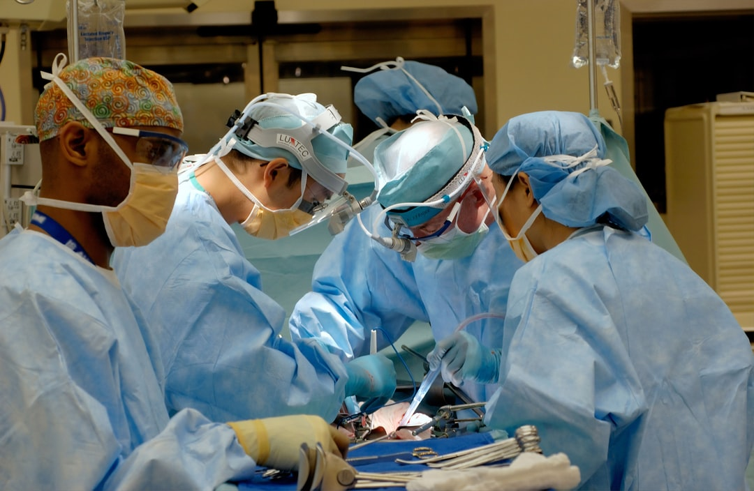 Doctors performing surgery.